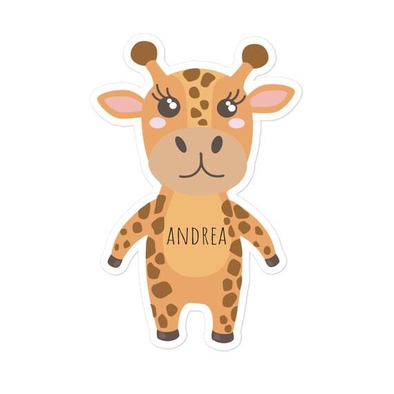 Custom Sticker, Giraffe Sticker, Baby Shower Sticker , Personalized Sticker, Back to school Vinyl Decal, Laptop Sticker, Kiss-Cut Stickers