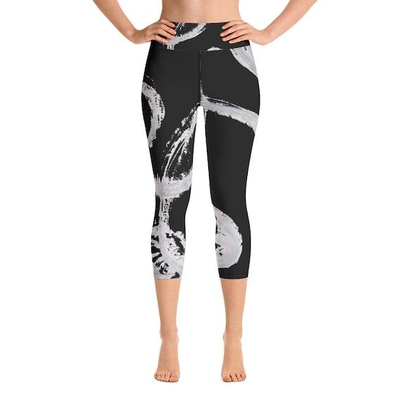 Imperfect Black Yoga Capri Leggings