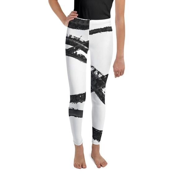 Imperfect Flow 1 Girls Leggings - Boys Leggings - Black and White - Birthday Outfit - Printed Leggings - Ballet Leggings - Casual Clothes