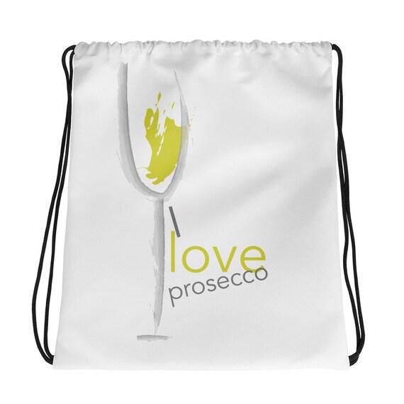 """I love Prosecco"""" Drawstring bag"""