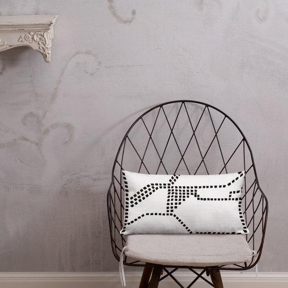 Black and White Pillow - Black Pillows - White Pillows - Pillow Sham - Pillow Case - Accent Pillow - Toss Pillow - Throw Pillows home decor