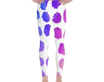 Men's Leggings - Dots pattern - disco pants - dancing leggings -Meggings - running workout pants - yoga - gymwear - crossfit