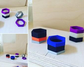 Hex Modular Rings! Colors