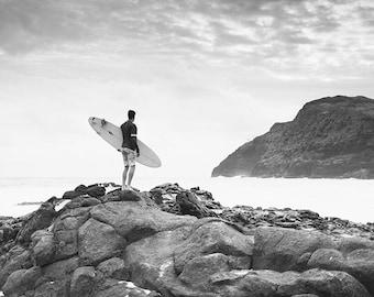 Black And White Print 8x10 11x14 Black And White Surf Art Etsy