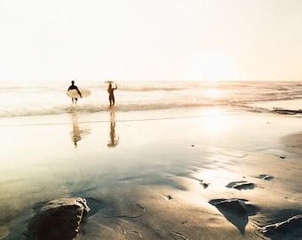 Surfer Art, Surf Decor, San Diego California, Surf Room Decor, Swami's Beach, Surfer Print, Beach House, Beach Photography, Coastal Art