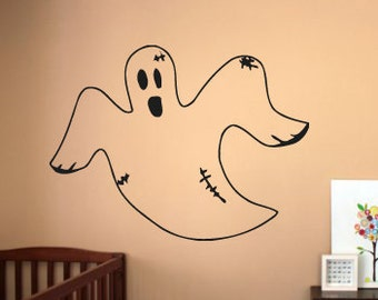 Wall Vinyl Sticker Decals Mural Room Design Decor Art Ghost Scary Cartoon Nursery bo2358