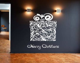 Wall Decal Sticker Merry Christmas Happy New Year Holidays Christmas Tree Decorations 1487t