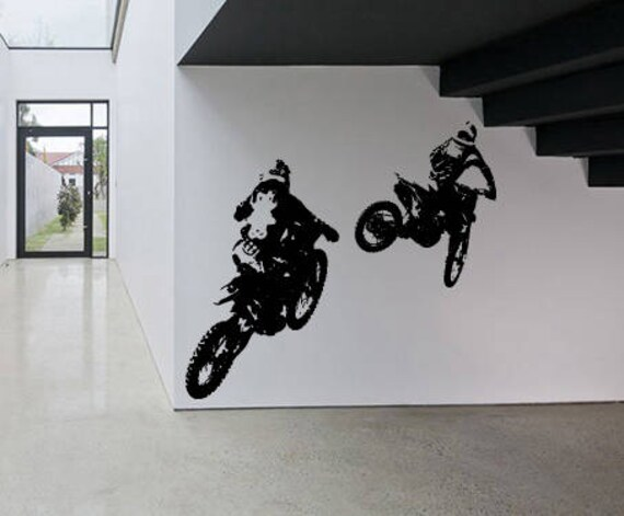 Motocross Vinyl Children Sticker Living Room Bedroom Home Decal Wall Art 014
