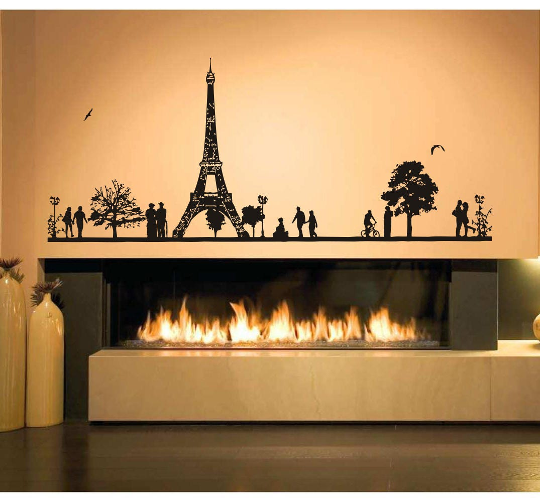 Wall Decal Sticker France Eiffel Tower Europe Paris City view   Etsy