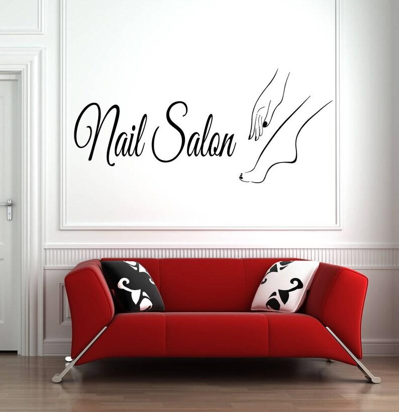 Nail Salon Wall Sticker Nail Art Polish Beauty Salon Decoration Vinyl Art Decal
