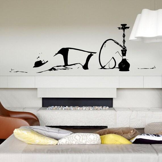 Muur sticker Vinyl Sticker slaapkamer kwekerij shisha lounge | Etsy