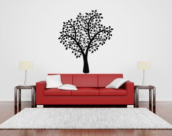 Wall Vinyl Sticker Decals Mural Room Design Pattern Tree Branch Forest Nature  bo187
