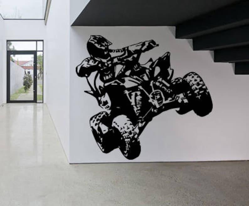Wall Sticker Decal ATV Motorcycle Dirt Bike Sport Motocross Ride Children  Guys Boys Bedroom 1634b