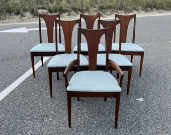 Vintage Broyhill Sculptra / Brasilia Dining Chairs, Set of 6, Mid Century Modern Dining Room Chairs, Broyhill Brasilia, Broyhill Premier