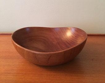 "Decorative Arts Lot 2 Vintage 1950's Wood Japan 6"" Salad Bowls Mid Century Danish Modern"