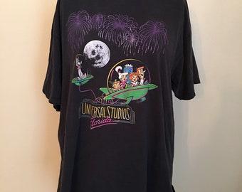 1b3fb00a Vintage The Jetsons Universal Studios Florida T-Shirt, Jetsons Cartoon T- Shirt, 1990s Short Sleeve Novelty Tee, 2X Large Men's T-shirt