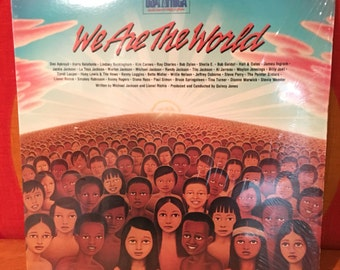 """We Are The World, 12"""" Vinyl LP, Various Artists, 12"""" vinyl single, Michael Jackson, Lionel Richie, USA for Africa, Columbia 1985"""