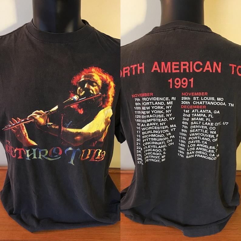 eb557168d7c Vintage Jethro Tull Concert T-Shirt Jethro Tull 1991 North