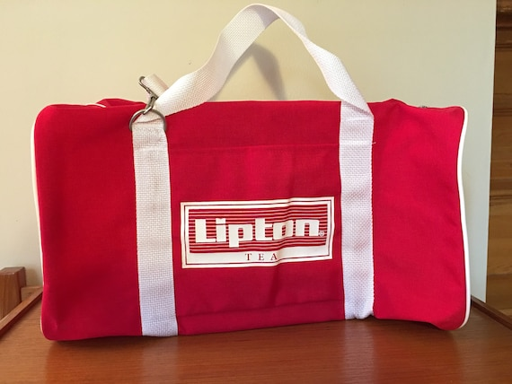 Vintage Lipton Tea Duffel Bag, Promotional Adverti