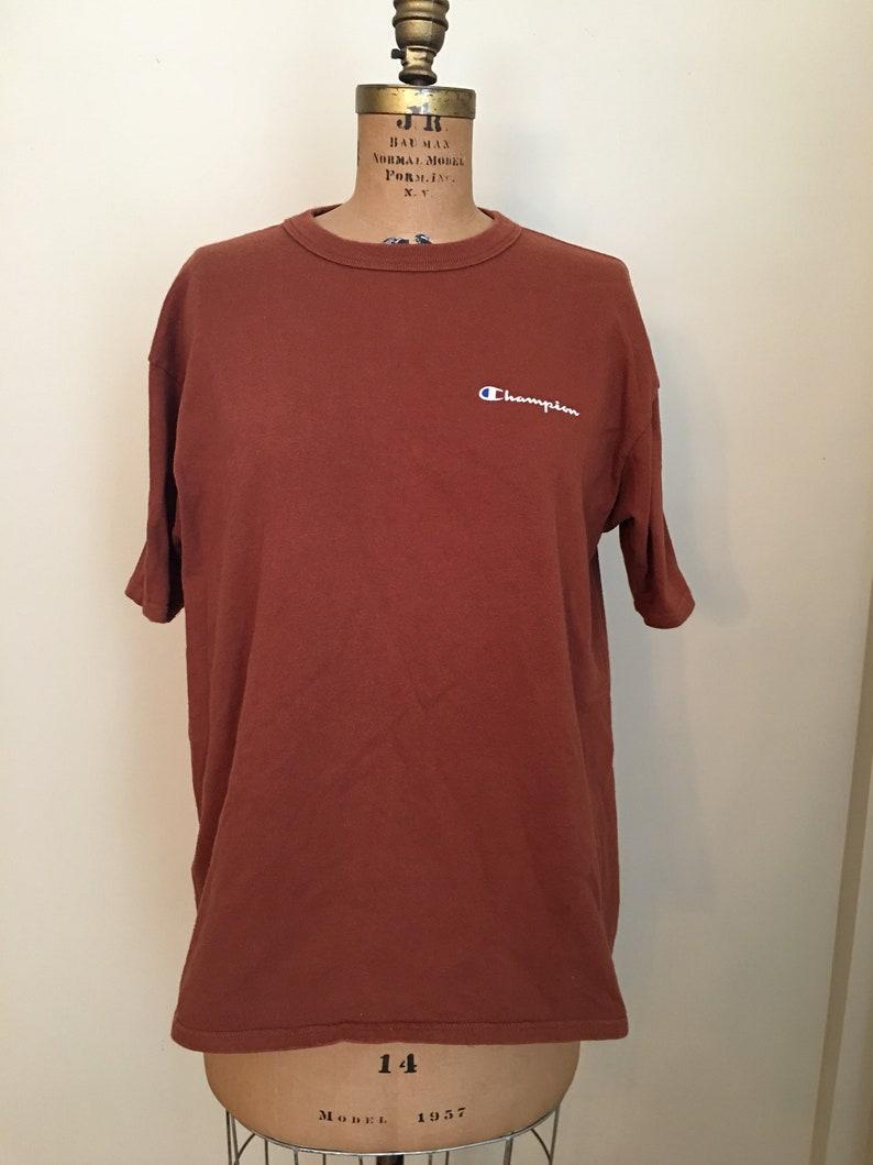 8e30b01865dc Vintage Champion Brand Brown T-shirt Brown Champion Shirt | Etsy
