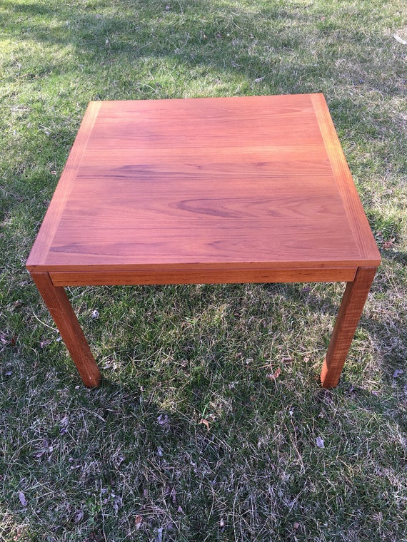 Small Teak Side Table.Mid Century Modern Teak Side Table Large Danish Modern Teak Side Table Or Small Coffee Table Vejle Stole Made In Denmark Teak End Table