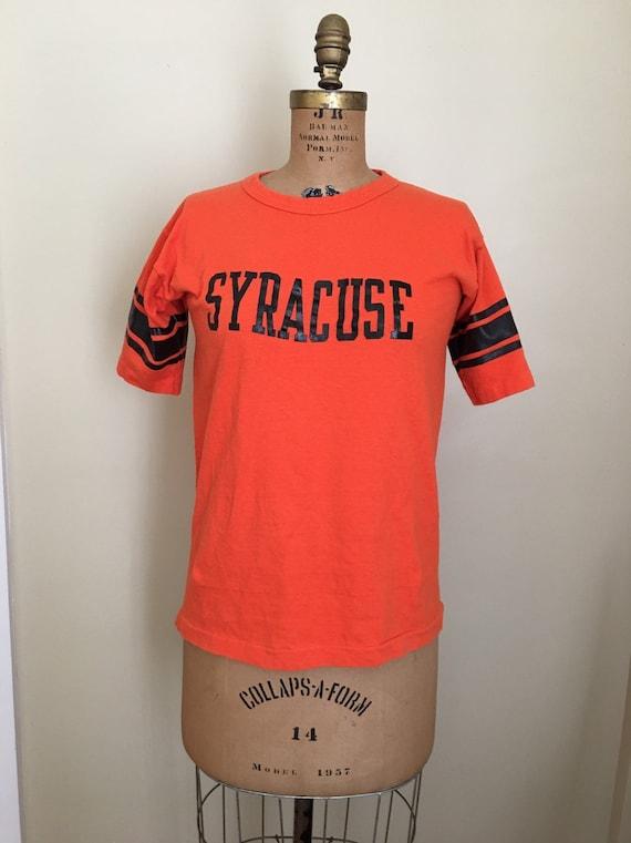 Vintage Champion Blue Bar Syracuse T-shirt, Orange