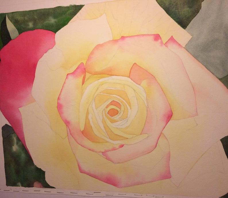 Rose Watercolor Art Print 8x10 botanical giclee wall decor