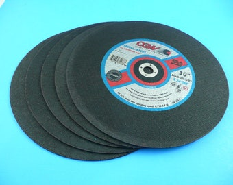 "6) 10"" CGW Metal/Steel Abrasive Cut-Off Wheels"