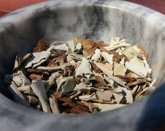Sage and Ash Bark Herbal Blend, Loose Incense, Herbal Incense, Dried Herbs, Witchcraft, Witch, Ritual Herbs, Natural Herbs, Witch Supplies