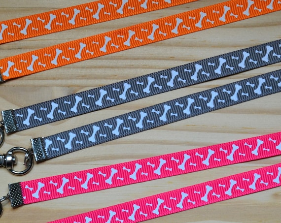 Paw Prints Dog Bone Glow in the Dark Face Mask Lanyard  Adjustable Strap for Face Coverings