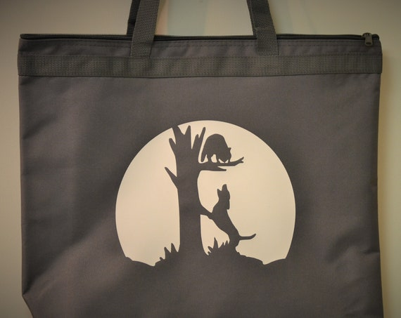 Coon Hunting Hound Treed Coon Moon Zippered Tote Bag
