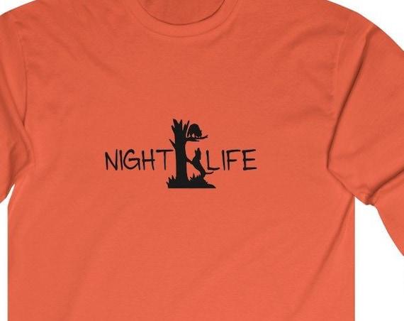 Coon Hunting Night Life Ultra Cotton Long Sleeve Tee