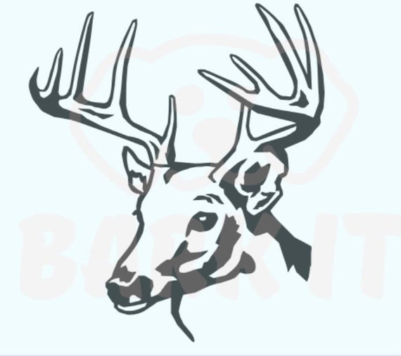 Buck Deer Head SVG, PDF, PNG, eps, dxf Digital Download Cut File for decals, shirts and more