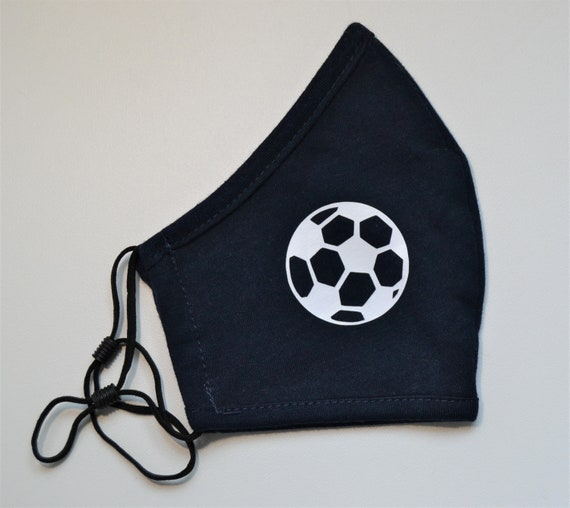 Soccer Youth Soft Washable Face Mask