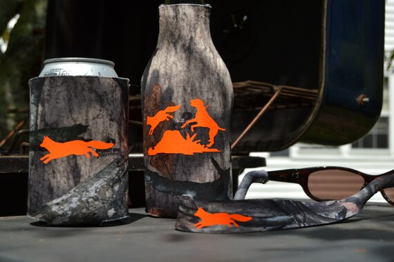 Mossy Oak Tree Stand Camo Fox Hunting Sunglasses Strap, Can Hugger and Bottle Hugger