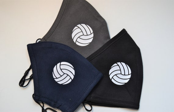 Volleyball Adult or Youth All Cotton Washable Adjustable Face Mask