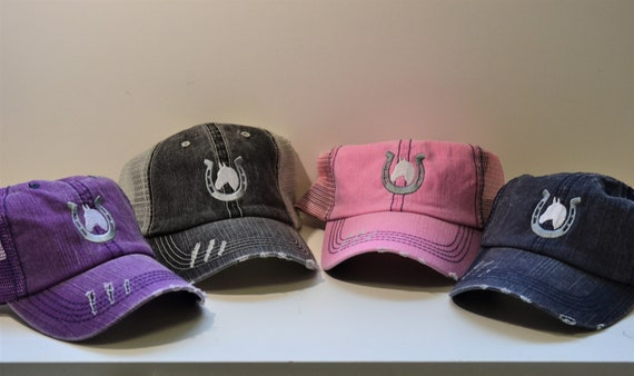 Horse Unstructured Low Profile Mesh Hat