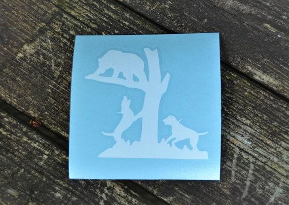 Hounds Running Bear Treed Bear Hunting Decal