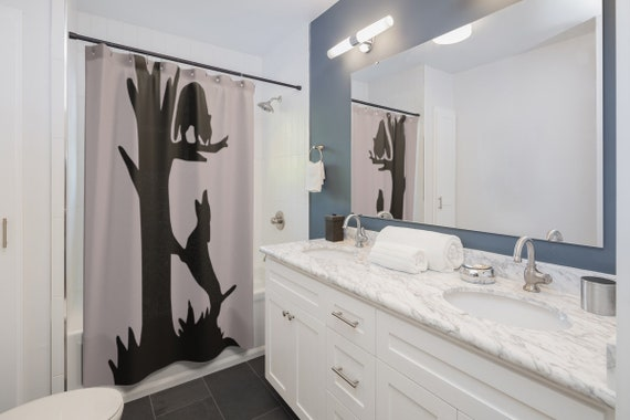 Treed Coon Shower Curtain