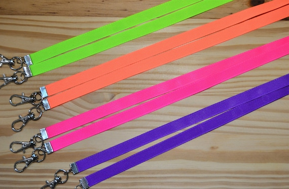 Neon Colors Face Mask Lanyard For Kids or Adults  Adjustable Strap for Face Coverings