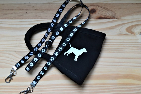 Youth Dog All Cotton Washable Face Mask and  Adjustable or Breakaway Lanyard