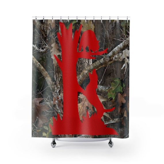 Camo Coon Hunting Shower Curtain