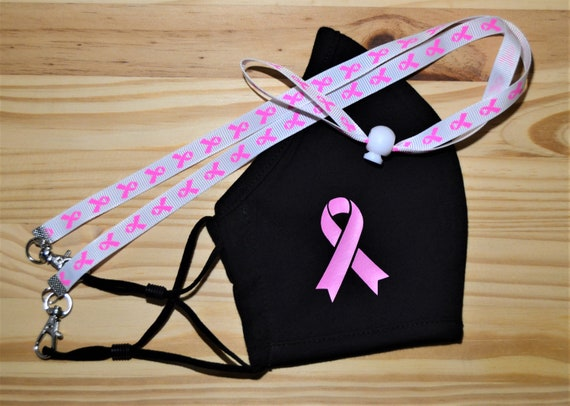 Breast Cancer Awareness Pink Ribbon Adult Cotton Washable Adjustable Face Mask