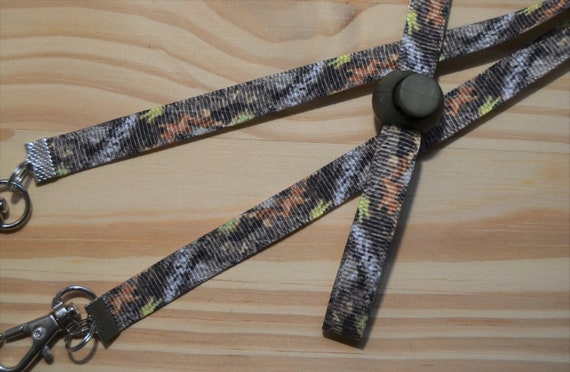 Camo Face Mask Lanyard Adjustable Strap for Face Coverings