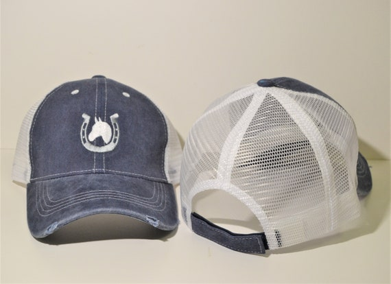 Horse Vintage Pigment Dyed Structured Mesh Hat
