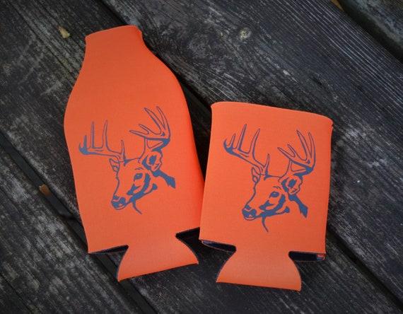Deer Hunting Buck Can Hugger, and Bottle Hugger Drink Holder
