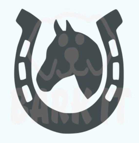 Horse Shoe Horse Head  SVG, PDF, PNG, eps, dxf Digital Download Cut File for Decals, shirts and more