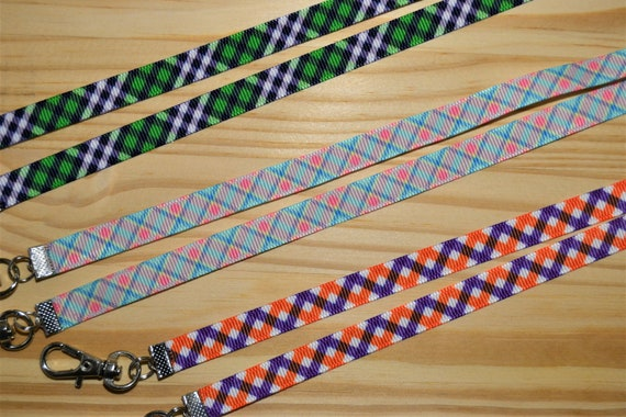 Preppy Plaid Collection Face Mask Lanyard Adjustable Strap for Face Coverings