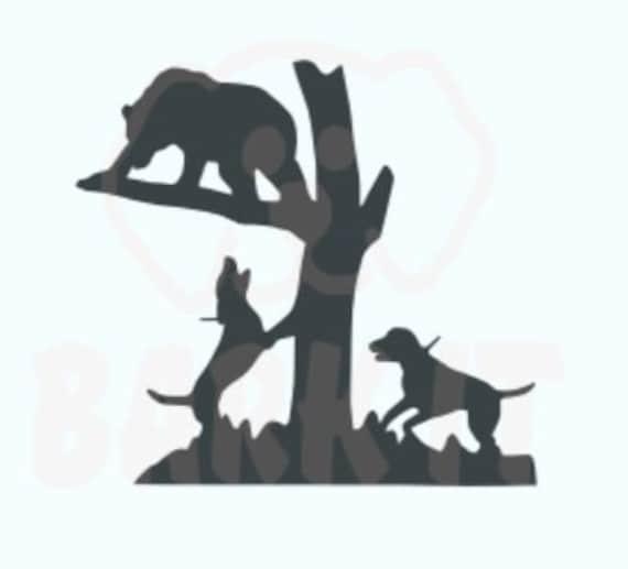 Hounds Treed Bear Hunting SVG, PDF, PNG, eps, Digital Download Cut File