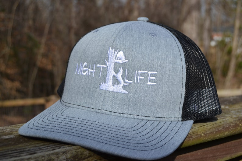 42faf7a0a Richardson Snapback Night Life Coon Hunting Mesh Trucker Hat